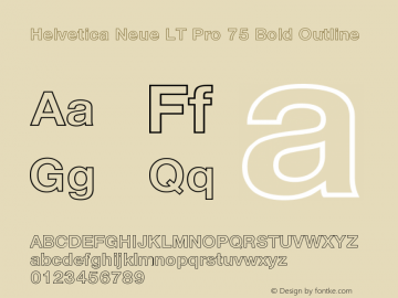 HelveticaNeueLTPro-BdOu Version 1.000;PS 001.000;Core 1.0.38图片样张