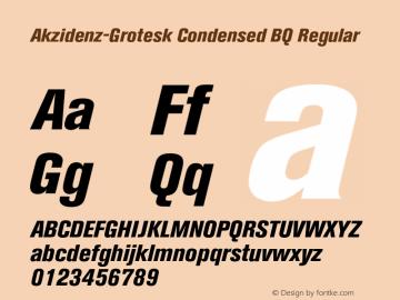 Akzidenz-Grotesk Condensed BQ Font Family Akzidenz-Grotesk