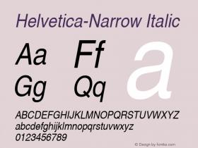 Nimbus Sans L Regular Condensed Italic 001.005图片样张