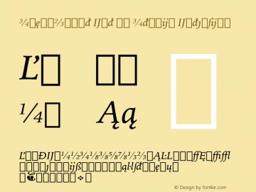 IowanOldSt Ext BT Italic Extension Version 1.01 emb4-OT Font Sample