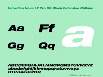 HelveticaNeueLTPro-BlkExO Version 1.000;PS 001.000;Core 1.0.38图片样张