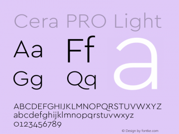 CeraPRO-Light Version 1.000;PS 002.000;hotconv 1.0.88;makeotf.lib2.5.64775图片样张