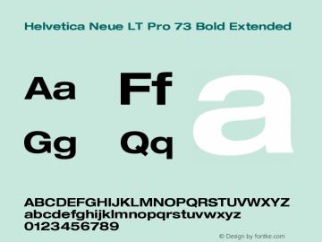 HelveticaNeueLTPro-BdEx Version 1.000;PS 001.000;Core 1.0.38图片样张