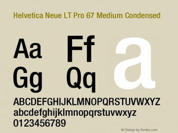 HelveticaNeueLTPro-MdCn Version 1.000;PS 001.000;Core 1.0.38图片样张