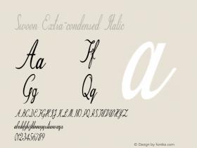 Swoon-ExtracondensedItalic Version 1.000图片样张