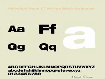HelveticaNeueLTPro-BlkEx Version 1.000;PS 001.000;Core 1.0.38图片样张