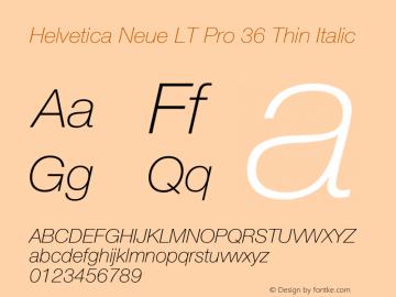 HelveticaNeueLTPro-ThIt Version 1.500;PS 001.005;hotconv 1.0.38图片样张