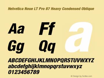 HelveticaNeueLTPro-HvCnO Version 1.000;PS 001.000;Core 1.0.38图片样张