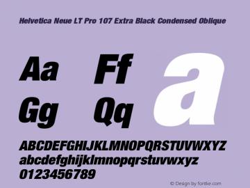 HelveticaNeueLTPro-XBlkCnO Version 1.000;PS 001.000;Core 1.0.38图片样张