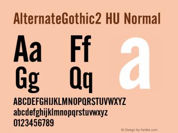 AlternateGothic2 HU Normal 1.000 Font Sample