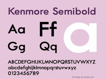 Kenmore-Semibold Version 002.000图片样张