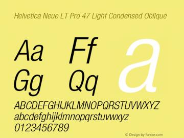 HelveticaNeueLTPro-LtCnO Version 1.000;PS 001.000;Core 1.0.38图片样张