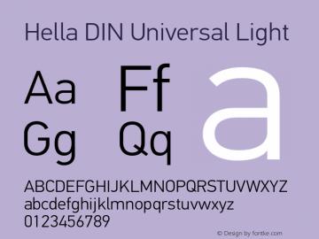 Hella DIN Universal Font,HellaDINUniversal-Light Font,Hella