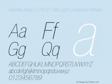 HelveticaNeueLTPro-UltLtCnO Version 1.000;PS 001.000;Core 1.0.38图片样张