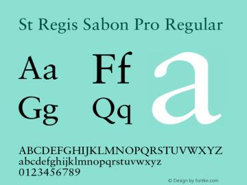 St Regis Sabon Pro Font Stregissabonpro Font Stregissabonpro Version 1 000 Ps 001 000 Hotconv 1 0 38 Font Otf Font Uncategorized Font Fontke Com For Mobile