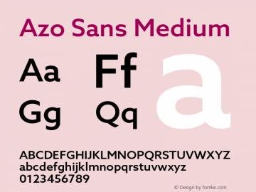 AzoSans-Medium Version 1.001图片样张
