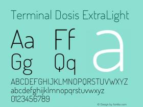 Terminal Dosis ExtraLight Version 1.006图片样张