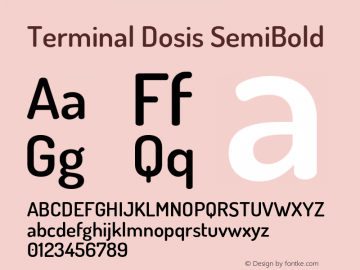 TerminalDosis-SemiBold Version 1.006图片样张