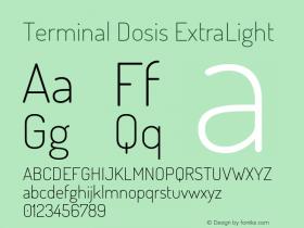 TerminalDosis-ExtraLight Version 1.006图片样张