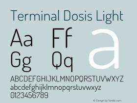 TerminalDosis-Light Version 1.006图片样张