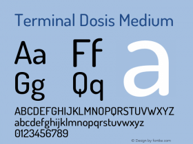 TerminalDosis-Medium Version 1.006图片样张