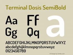Terminal Dosis SemiBold Version 1.006图片样张