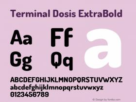 TerminalDosis-ExtraBold Version 1.006图片样张