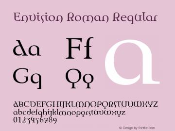Envision Roman Regular 1.0图片样张