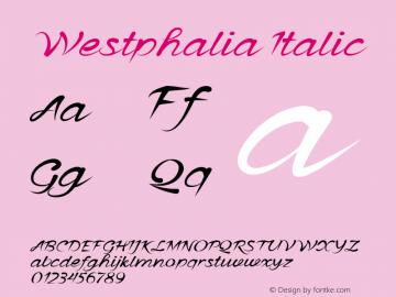 WestphaliaItalic Version 1.000图片样张