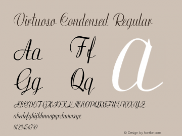 Virtuoso-CondensedRegular Version 1.000图片样张
