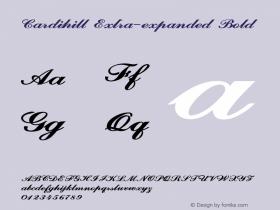 Cardihill-ExtraexpandedBold Version 1.000图片样张