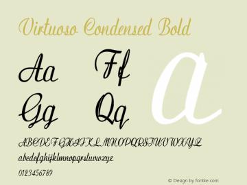 Virtuoso-CondensedBold Version 1.000图片样张