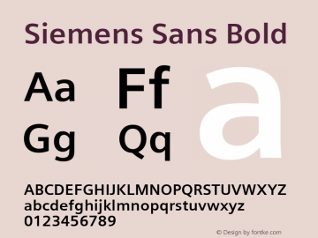 Siemens Sans Bold Version 5.00图片样张