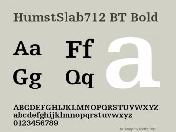 HumstSlab712 BT Bold mfgpctt-v4.4 Dec 22 1998图片样张