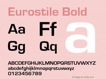 Eurostile Bold Version 1.10图片样张