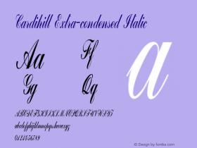 Cardihill-ExtracondensedItalic Version 1.000图片样张