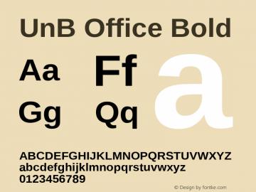 UnBOffice-Bold Version 1.001图片样张