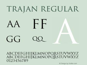 Trajan Regular V1.0.图片样张