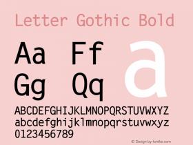 Letter Gothic Bold Version 0.93图片样张