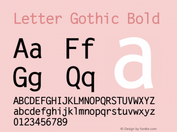 Letter Gothic Bold Version 0.93图片样张