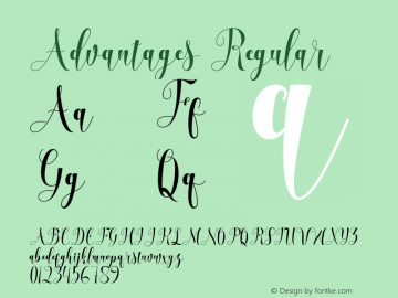 Advantages Version 1.000 Font Sample