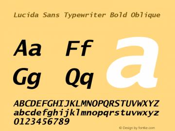 Lucida Sans Typewriter Bold Oblique UGL 1.003; 12 December 1991图片样张