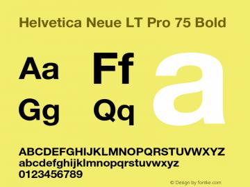 HelveticaNeueLTPro-Bd Version 1.100;PS 001.001;hotconv 1.0.38图片样张