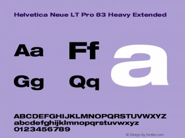 HelveticaNeueLTPro-HvEx Version 1.000;PS 001.000;Core 1.0.38图片样张