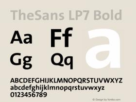 TheSans LP7 Bold Version 1.641 2006图片样张