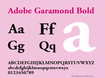 AGaramond-Bold Version 001.002图片样张