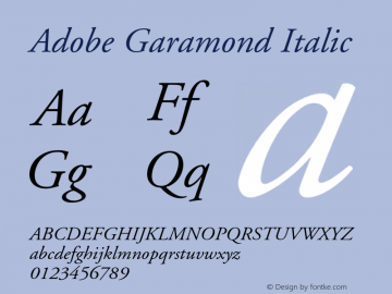AGaramond-Italic Version 001.002图片样张