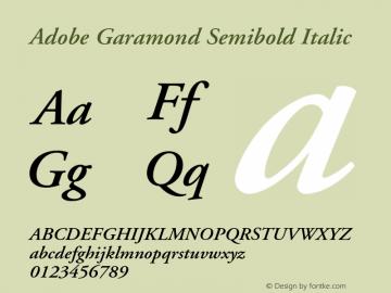 AGaramond-SemiboldItalic Version 001.002图片样张