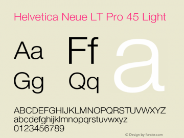 HelveticaNeueLTPro-Lt Version 1.100;PS 001.001;hotconv 1.0.38图片样张