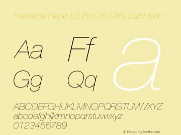 HelveticaNeueLTPro-UltLtIt Version 1.000;PS 001.000;Core 1.0.38图片样张